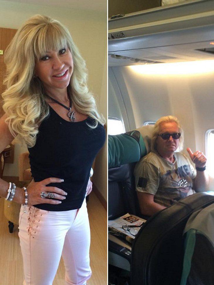 Carmen Geiss erntete mit den Flugzeug-Fotos hämische Kommentare.