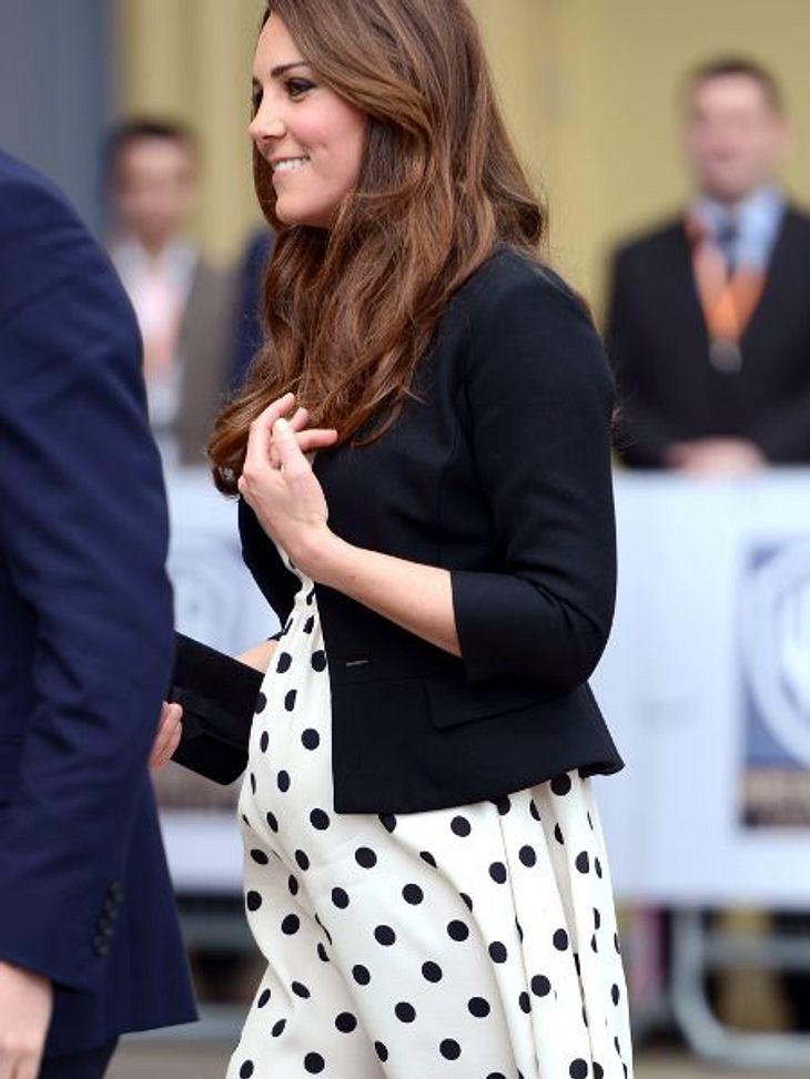 Herzogin Catherine mit ihrem süßen Babybauch