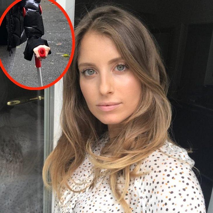 Schwanger auf Krücken: Fans in Sorge um Cathy Hummels