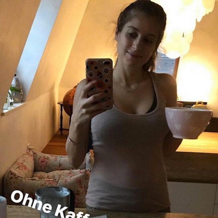 Im durchsichtigen Top: Cathy Hummels zeigt ihren After-Baby-Body