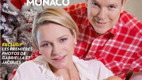 Charlene und Albert mit ihren Zwillingen - Foto: Paris Match