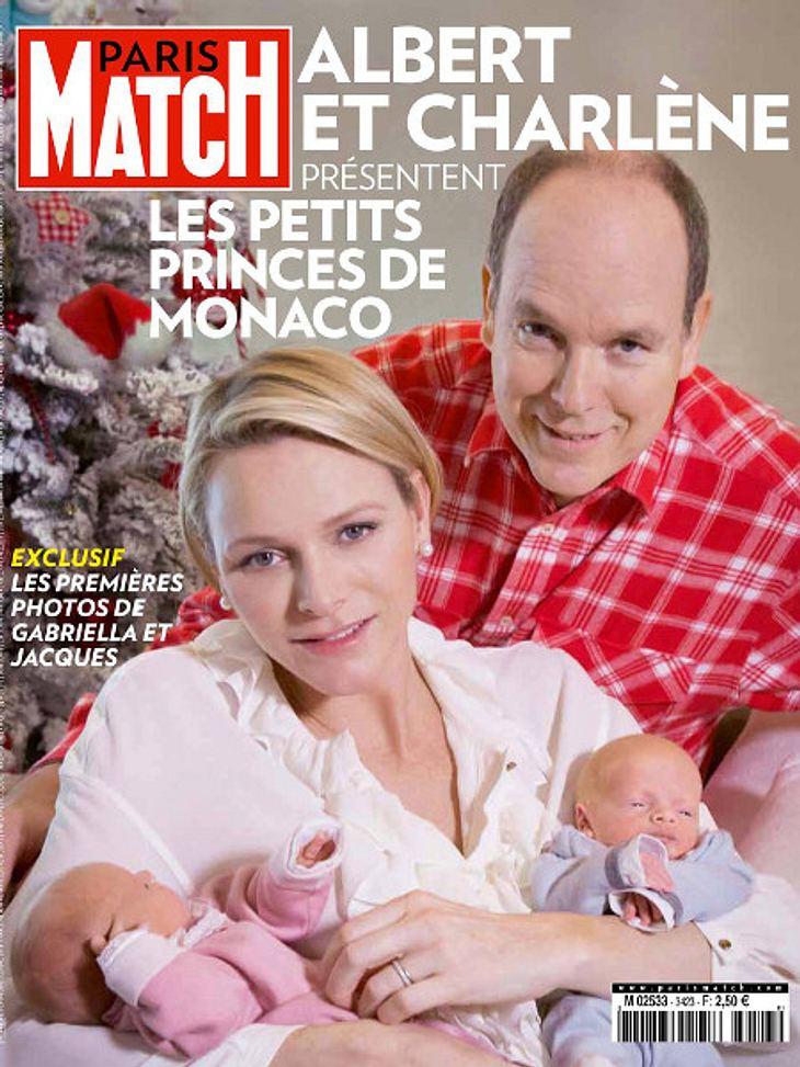 Charlene und Albert mit ihren Zwillingen