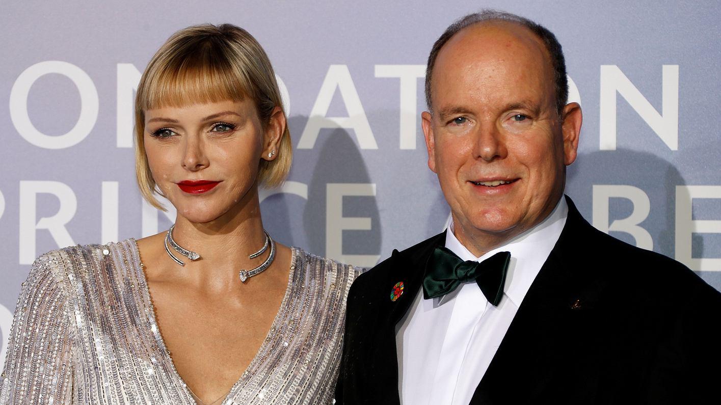 Charlene von Monaco und Fürst Albert II: