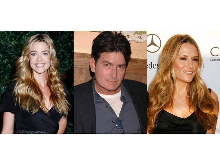 Charlie Sheens Ex-Ex Denise Richards sieht seiner aktuellen Ex Brooke Mueller (re) schon sehr ähnlich.