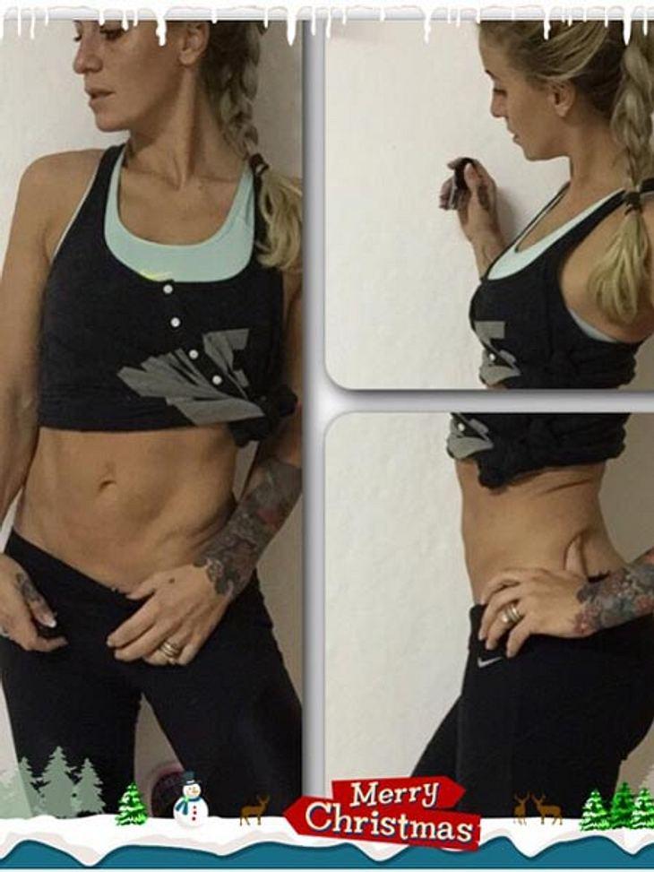 Charlotte Würdig zeigt ihren Body.