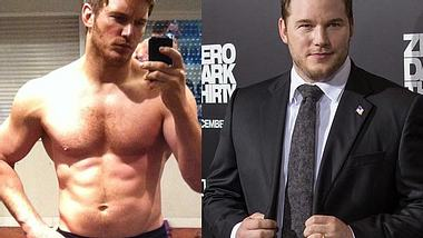 Heute ein Body wie ein Superheld. Vor über einem Jahr sah das noch anders aus - Foto: instagram/Chris Pratt / getty