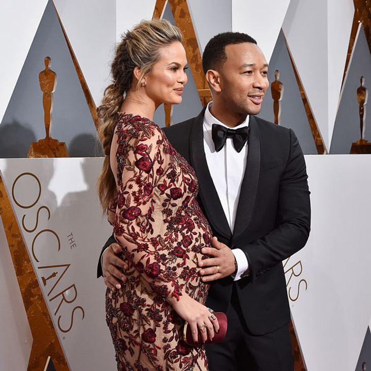 Chrissy Teigen schwanger John Legend Baby Oscars 2016
