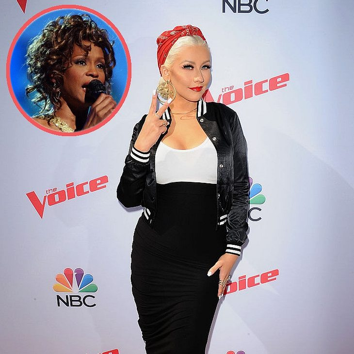 Christina Aguilera singt mit Whitney Houston