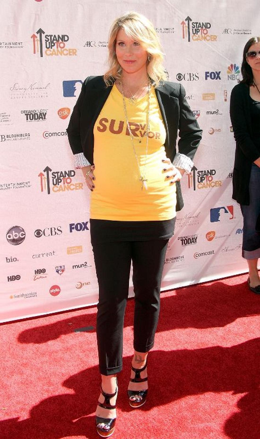 Christina Applegate - hier noch mit Kugelbauch - ist Mama geworden