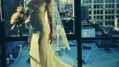 So hübsch ist Christina Ricci im Hochzeitskleid. - Foto: Twitter / Christina Ricci