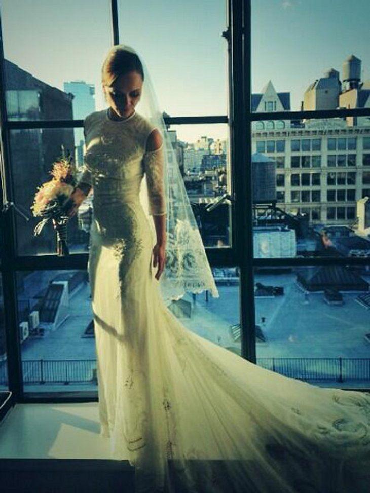 So hübsch ist Christina Ricci im Hochzeitskleid.