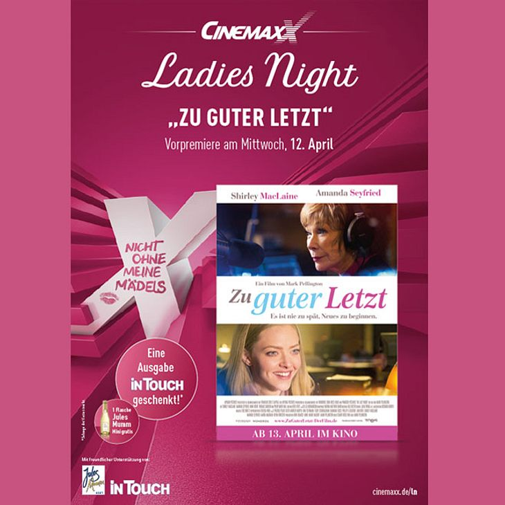 """Gewinne 25x2 Tickets für die Cinemaxx-Ladies Night zur Vorpremiere von """"Zu guter Letzt"""""""
