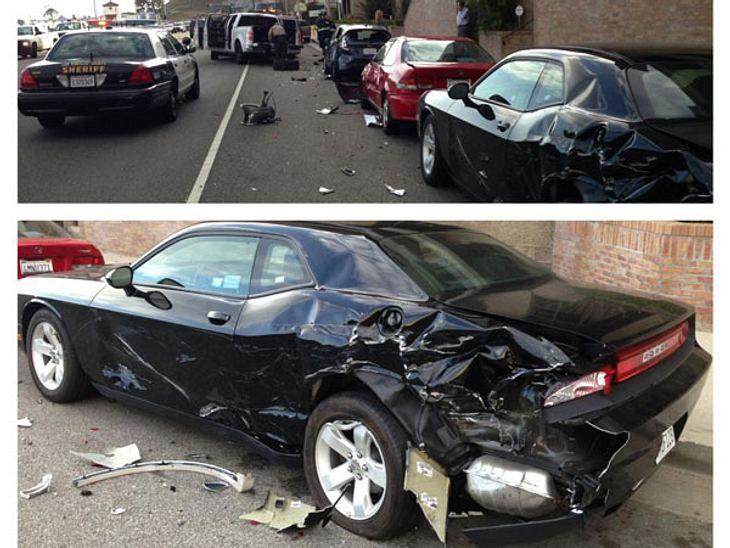 Totalschaden! Ein Pick-up raste in ihr Auto.