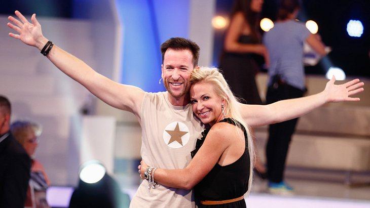 "Claudia Norberg und Michael Wendler beim ""Promi Big Brother""-Finale 2014"