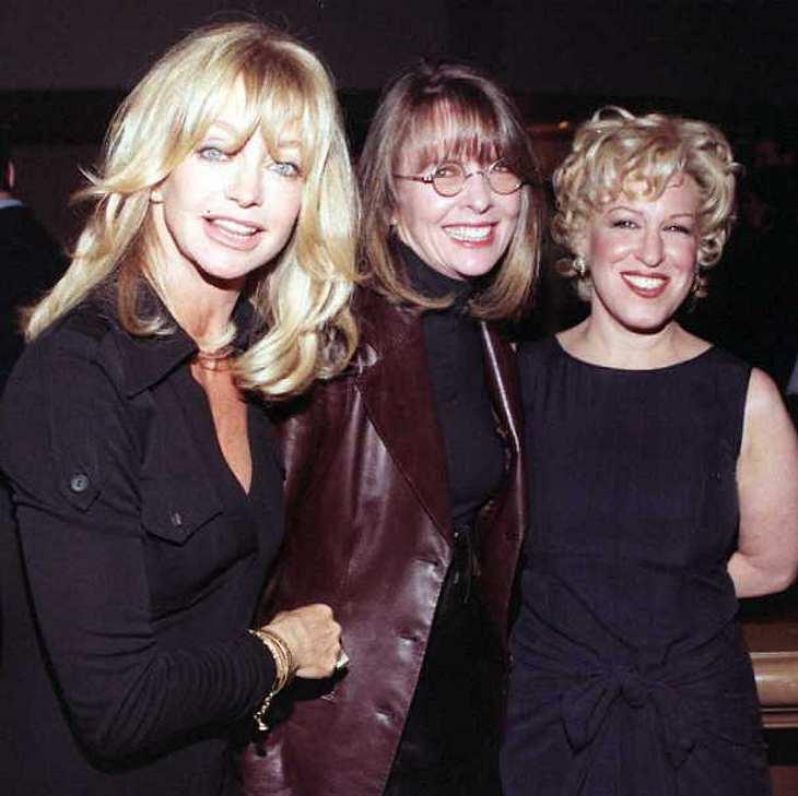 Goldie Hawn, Diane Keaton und Bette Midler