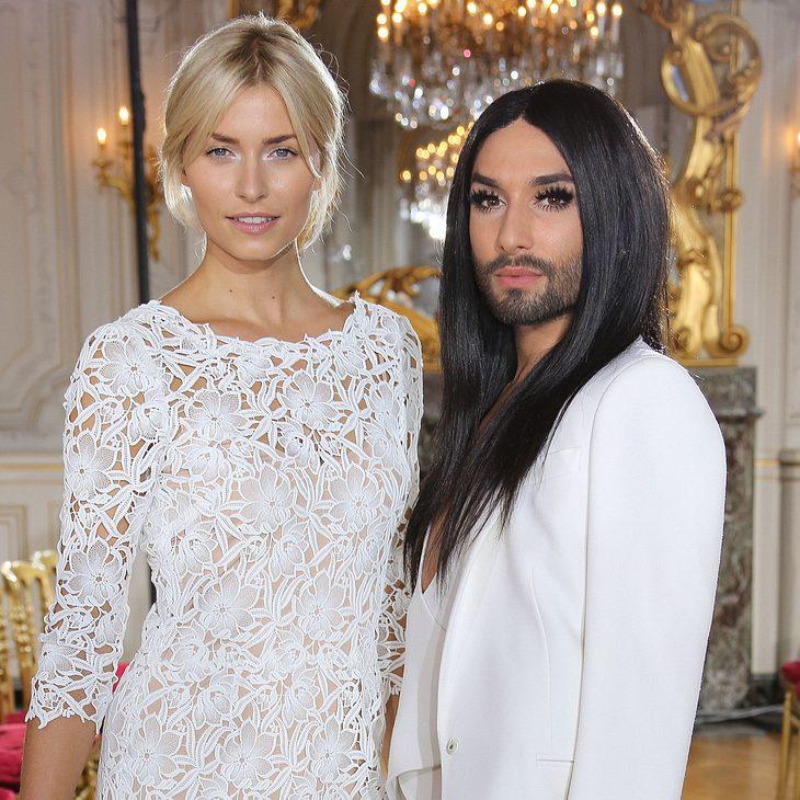 Lena und Conchita ganz in weiß
