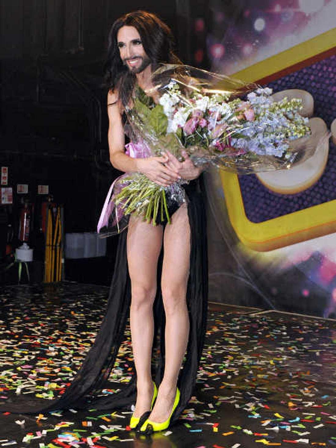 Conchita Wust nach ihrem Auftritt im G.A.Y.-Club.