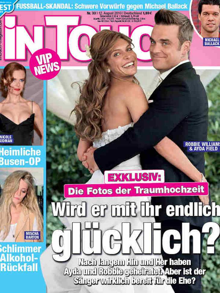 Am 7. August 2010 heiratete Robbie Williams die türkisch-amerikanisch Schauspielerin Ayda Field.