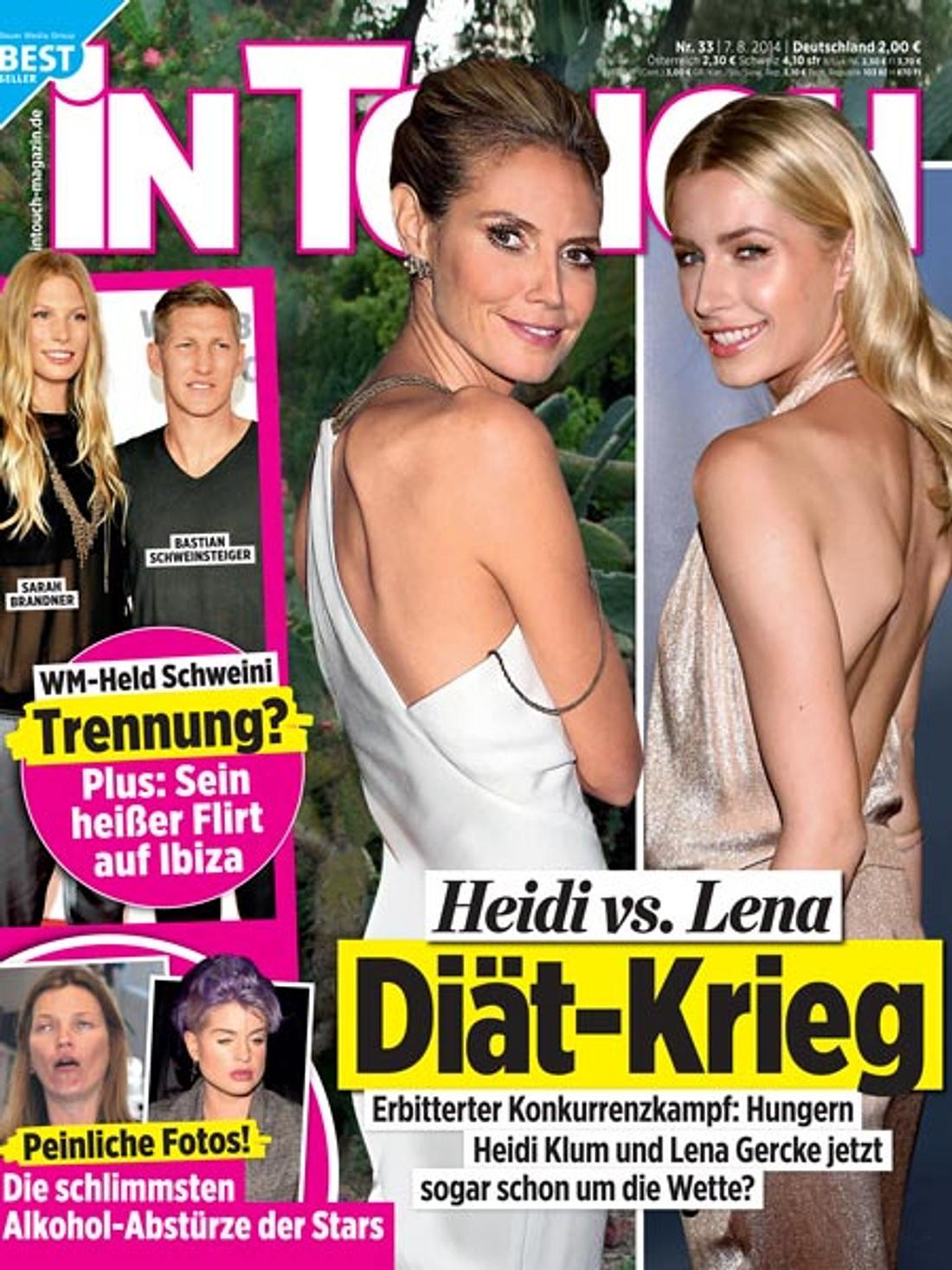 InTouch: Diät-Krieg zwischen Heidi Klum und Lena Gercke