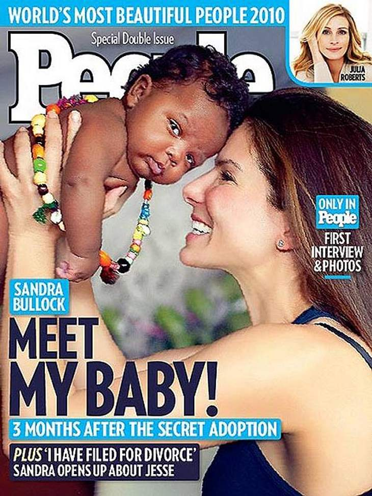 Sandra Bullock mit dem kleinen Louis.