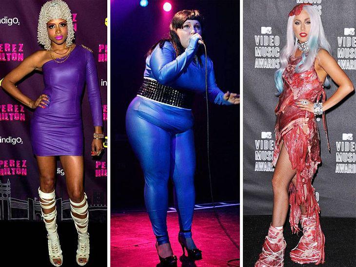 Crazy FashionDiese Stars haben sich entweder blind angezogen oder sie stehen auf Klamotten, die andere - aus guten Gründen - als  Geschmackverirrung bezeichnen würden.Sie pressen sich in zu kleine Catsuits, sehen aus wie aus einer Raumstati