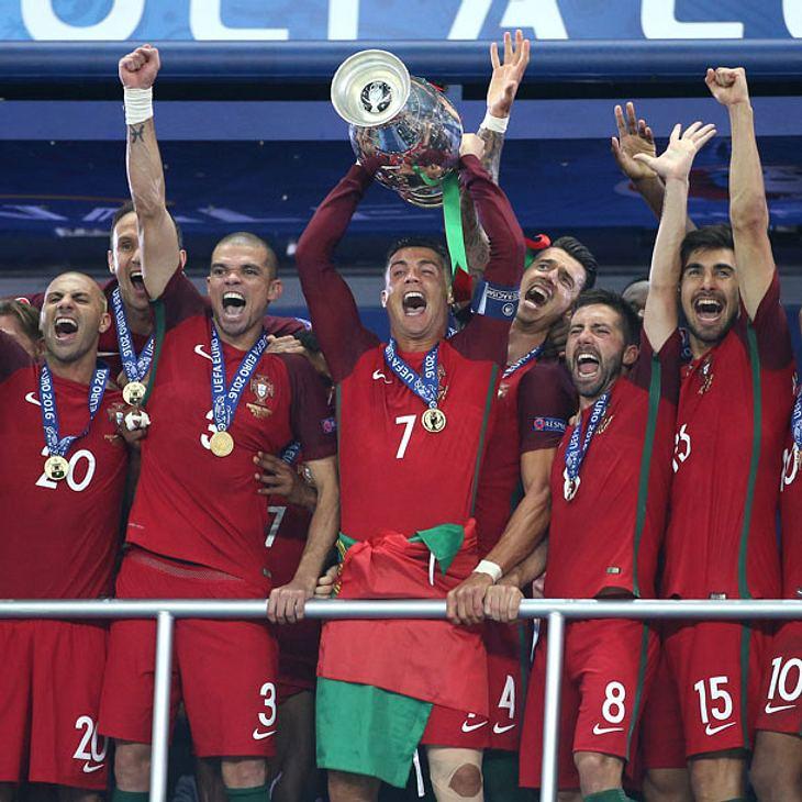 Cristiano Ronaldo beim EM Finale