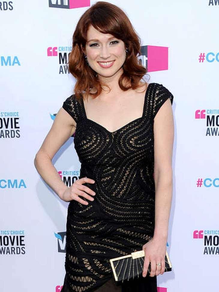 """""""Critic's Choice Awards"""" 2012 - Die schönsten Kleider,Das transparent gemusterte Kleid von """"The Office""""-Star Ellie Kemper (31) ist wirklich sexy!"""