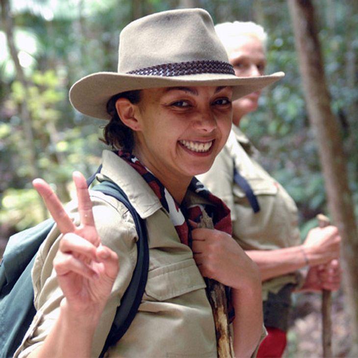 """Dschungelcamp 2012 - Die Highlights Eintagsfliege? Anfang war die Stimmung noch gut. Marlene Tackenberg (36), alias Jazzy von """"Tic Tac Toe"""" freut sich auf das Dschungelcamp., Alle Infos zu 'Ich bin ein Star - Holt mich hier raus!'"""