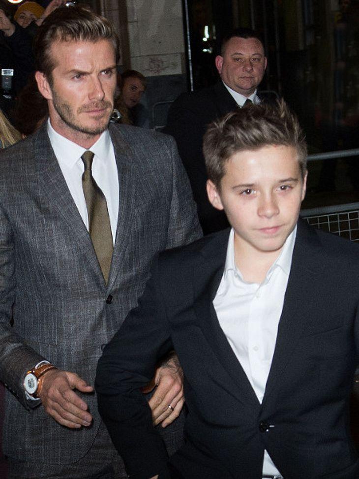 David Beckham und Sohn Brooklyn gerieten in einen Autounfall