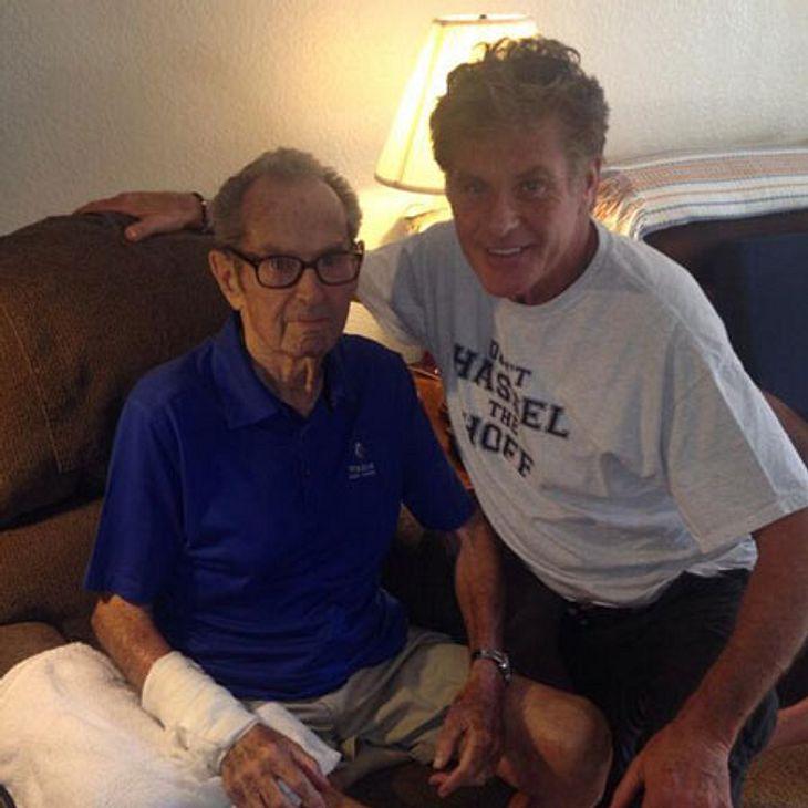 David Hasselhoff besucht seinen kranken Papa