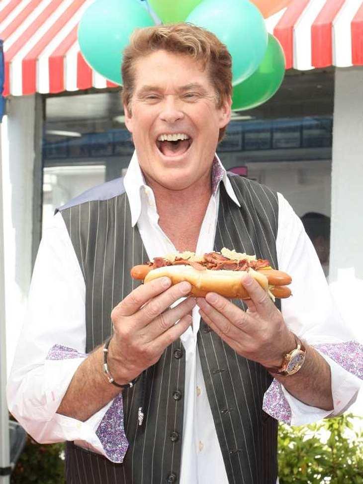 ... oder sie freuen sich über einen einfach Hot Dog wie  David Hasselhoff.