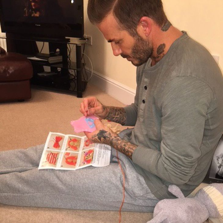 David Beckham: Er näht Puppenkleider für Tochter Harper