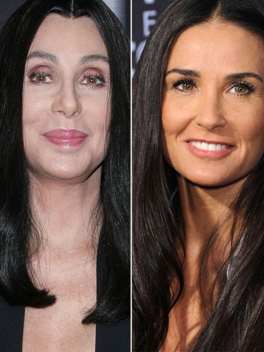 Cher vs. Demi: Wer hat besser schnibbeln lassen?