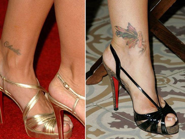 Die Liebes-Tattoos der StarsHier hat eine Dame schwuppdiwupp nach der Scheidung den Namen ihres ehemaligen Liebsten mit einer flatterigen Elfe ausgetauscht.