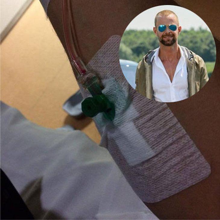 Dennis Uitz im Krankenhaus