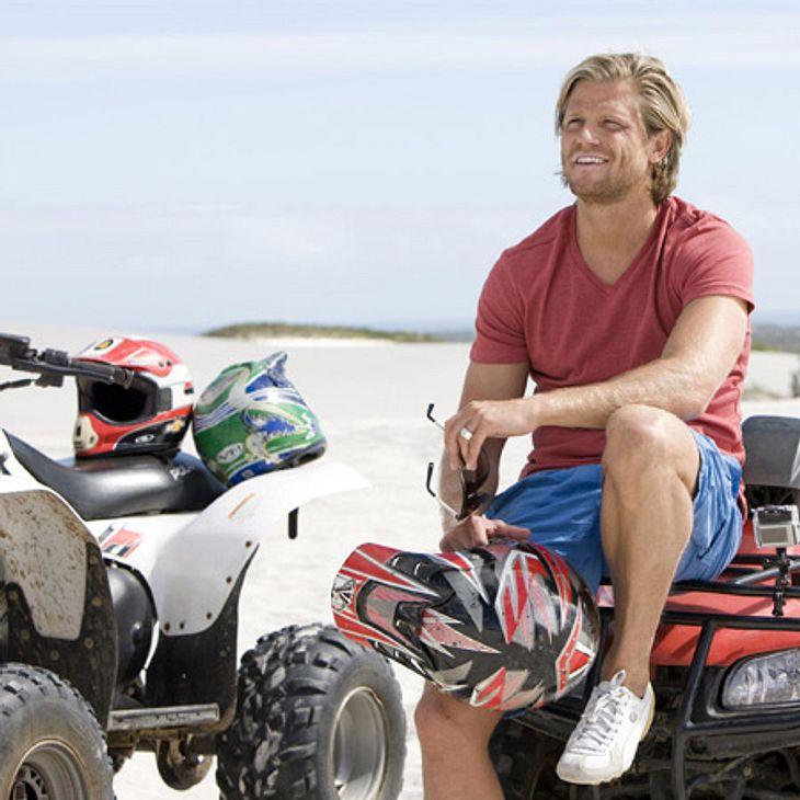 Der Bachelor 2012: Die neusten Bilder,Immer Vollgas! Paul steht auf Action. So steht auch Quad fahren auf seinem Programm.