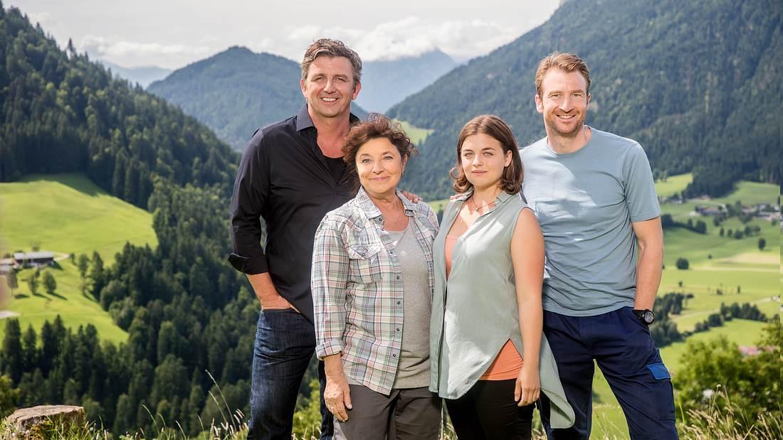 Der Bergdoktor und seine Familie am Drehort