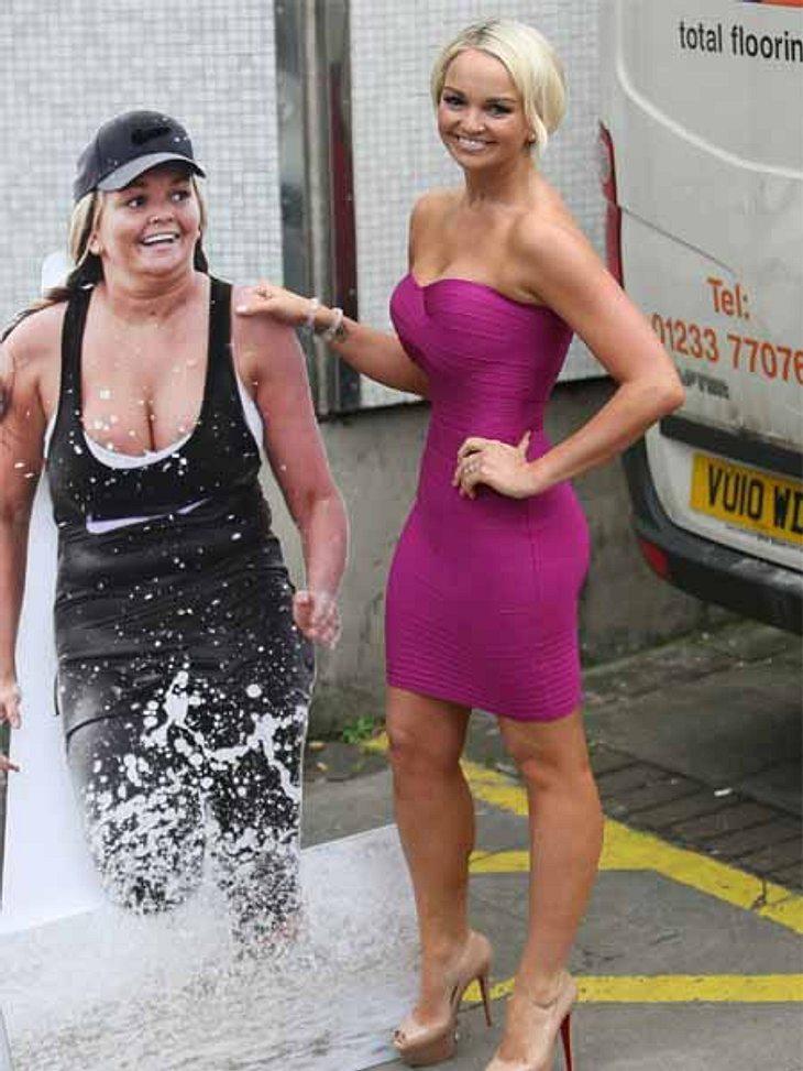 Die Diäten der StarsDie Fotografen staunten nicht schlecht, als die britische Schauspielerin, Sängerin und Musicaldarstellerin Jennifer Ellison (28) plötzlich mit einem Pappaufsteller mit einer sehr fülligen Frau zum Fototermin erschien. Ka