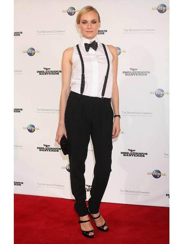 Boyfriend-Style: Ladys im Anzug... oder wie wäre es in Kombination mit Fliege und Hosenträger, wie  Diane Kruger es trägt?