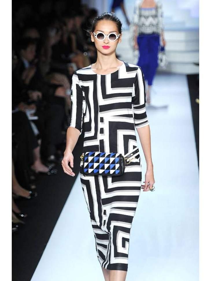 Verrückte, grafische Muster und klare Schnitte - das machte Diane von Fürstenberg auf der Fashion Week aus.
