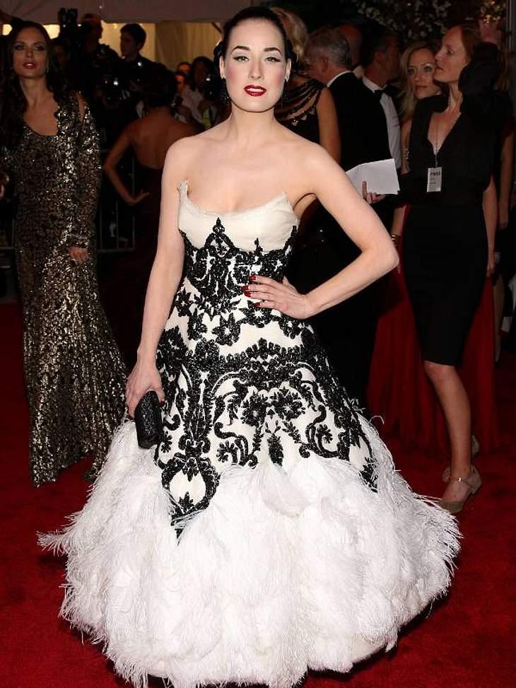 Der Look von Dita von TeeseFedern und Spitze zur jährlichen Gala des Metropolitan Museum Of Art Costume Institute in New York 2008.