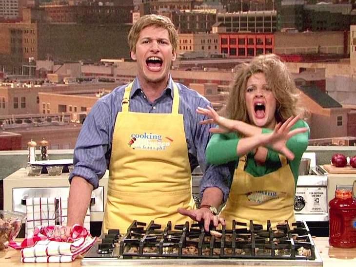 Oh, wie lustig ...Eine Kochshow mit  Drew Barrymore kann einfach nur lustig werden.