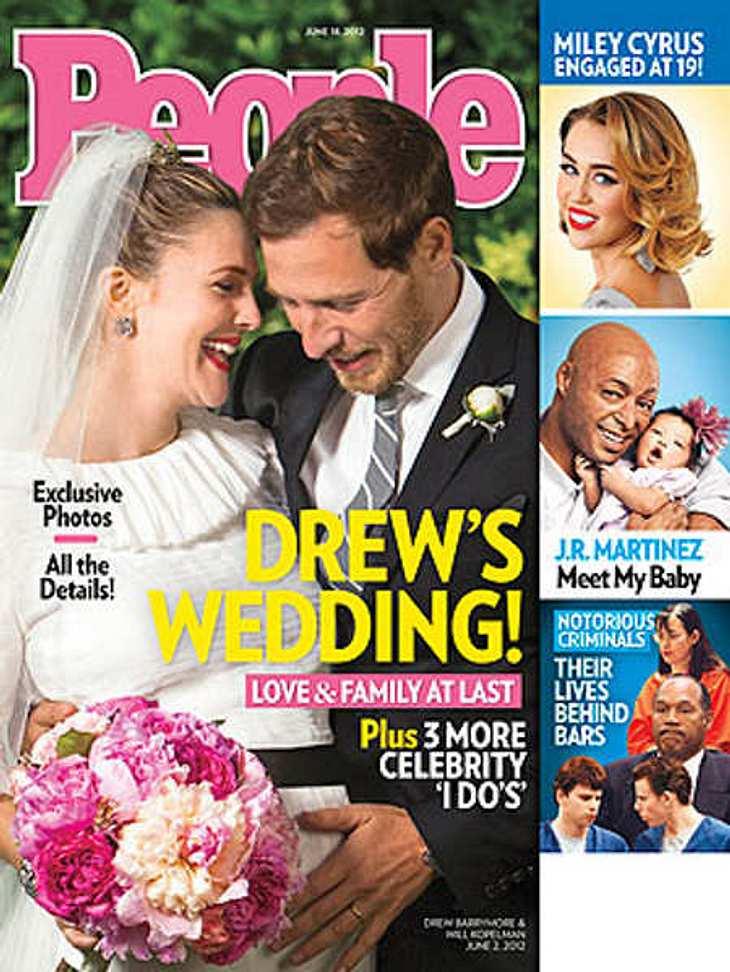 """Jahresrückblick 2012 - Die schönsten Momente der StarsAm 2. Juni 2012 läuteten die Hochzeitsglocken für Drew Barrymore und ihren Will Koppelman. Hochschwanger sagte Drew im Chanel-Kleid """"Ja""""."""