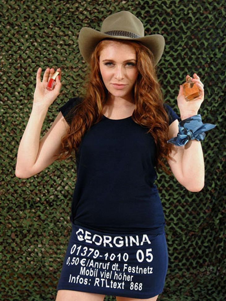 Dschungelcamp 2013 - die Luxusgegenstände,Damit Georgina auch im Dschungel gut duftet, hat sie sich für ein Parfüm entschieden. Außerdem nimmt sie einen Nagellack mit ins Camp. Ob ihr ein gepflegtes Äußeres im harten Camp-Alltag weiterhilft