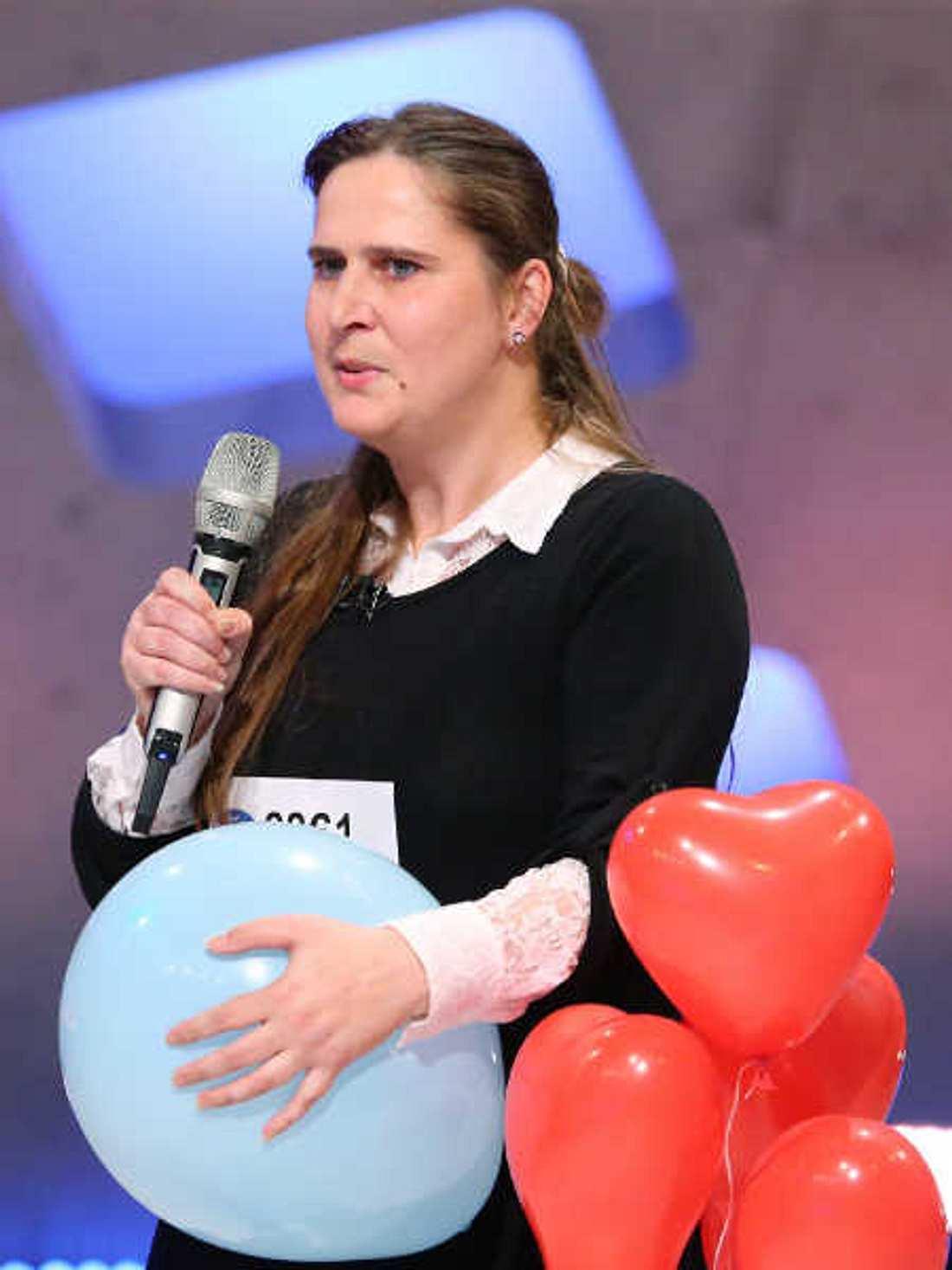 DSDS-Kandidatin Silke Krause liebt Luftballons.