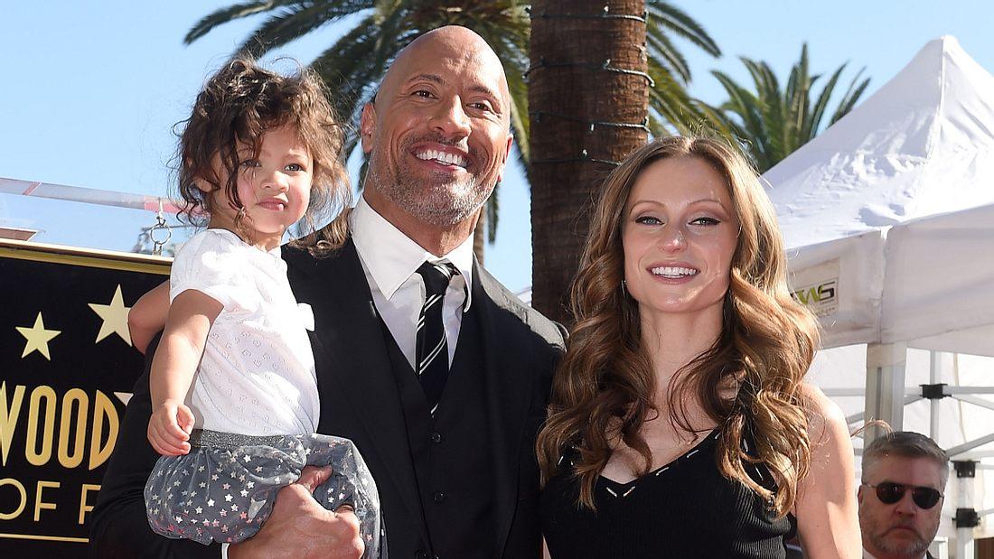 Dwayne Johnson, Frau Lauren und Tochter Tiana Gia