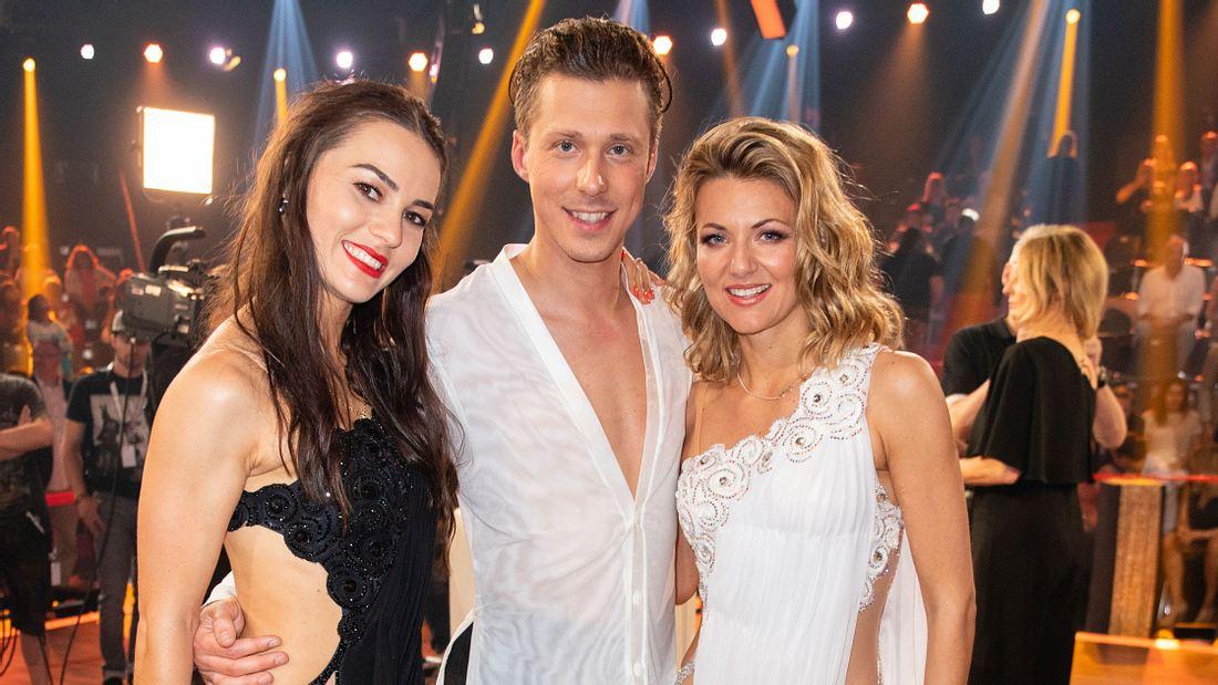 Ella Endlich mit Valentin und Renata Lusin