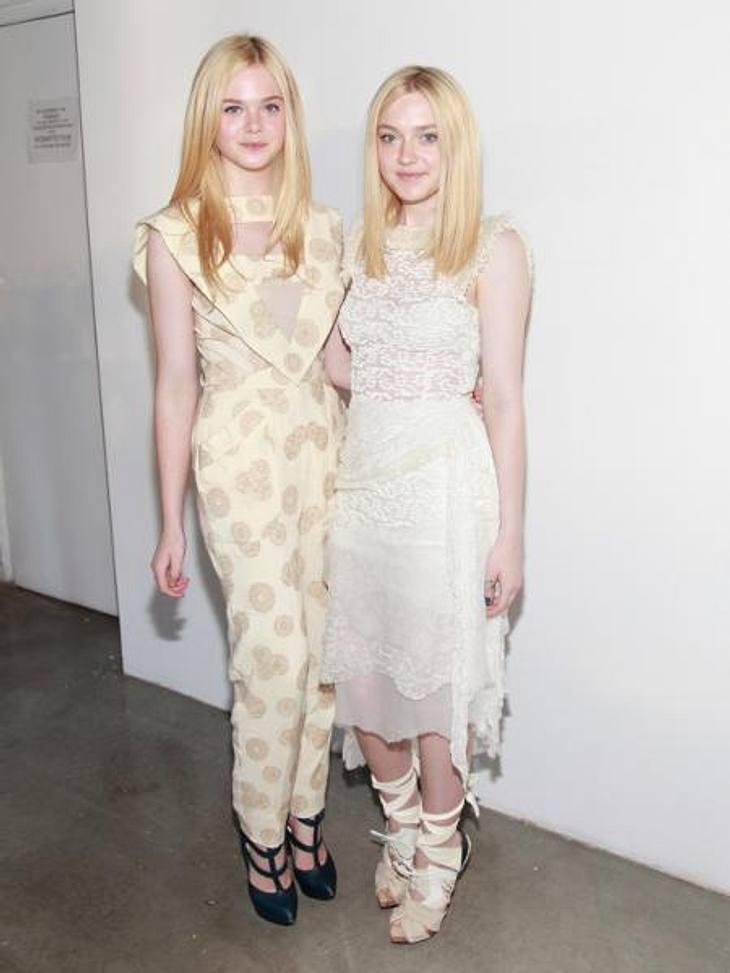 """Promi-Geschwister: Die kleinen Schwestern sind los!Bisher war Elles große Schwester Dakota Fanning (18) der unbestrittene Star der Familie. Seit ihrem Auftritt als Volturi-Vampir Jane in """"Eclipse - Bis(s) zum Abendrot"""" ist die zar"""
