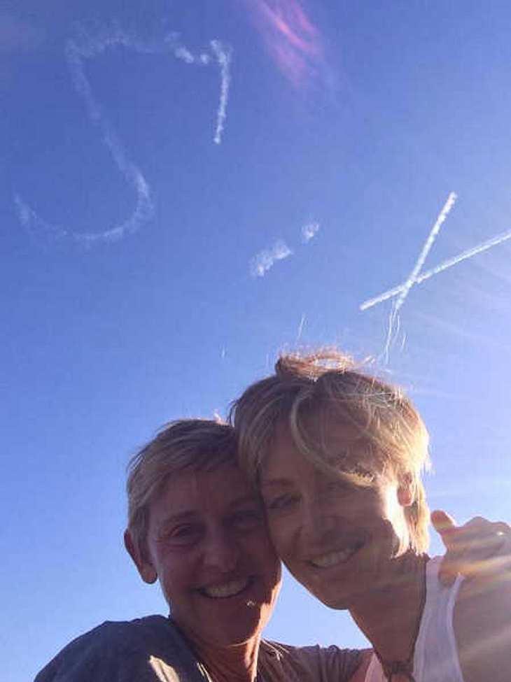 Eine Überraschung zum Hochzeits-Tag für Ellen DeGeneres.