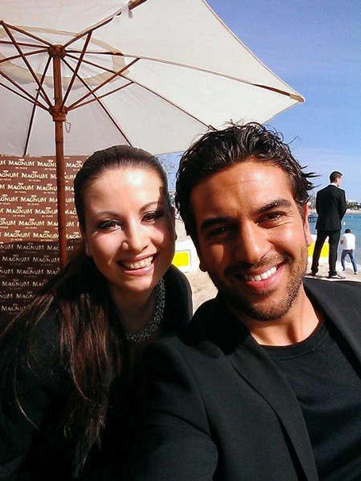 Noch schnell 'n Selfie: Elyas M'Barek mit InTouch-Redakteurin Kathrin